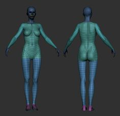 Jeremy Laurent did a wonderful breakdown of his Female Assassin character, showing how he did the sculpt, worked with the hair and did the materials. 3d Model Character, Character Modeling, Character Design, Polygon Modeling, Human Anatomy, Body Anatomy, Anatomy Art, Yves Klein, Spaceship Art