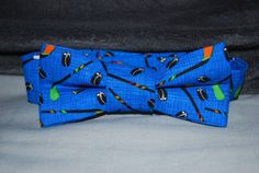 Boy's Bow TieBlue Hockey by finneousandbean on Etsy, $16.00