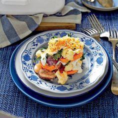 Hearty Thanksgiving Casseroles: Sweet Potato, Cauliflower, and Greens Casserole
