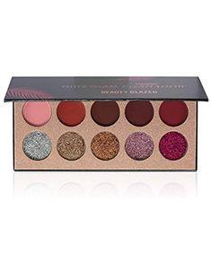 Qyee 10 Farben Beauty Glazed Matte Synthetic Diamond Lidschatten Platte Glitter Glitz Glam Eyeshadow Palette.