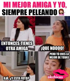 Nisiquiera me lo dice😂😭 Kardashian Memes, Funny Spanish Memes, Spanish Humor, Mexican Memes, Crazy Friends, Girl Memes, Bff Quotes, Bff Goals, Best Friends Forever