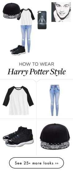 """""""michael clifford"""" by alicyafullbuster on Polyvore featuring moda e NIKE"""