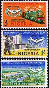 Nigeria 1965 International Co-operation Year Set Fine Mint SG 166/8 Scott 178/803 Other Nigerian Stamps HERE
