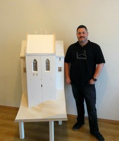 Castle of Füzér section model Scale: 1:25  #gondamodel #architect #architecture #archmodel #model #castle #hungary Arch Model, Polo Shirt, Polo Ralph Lauren, Castle, Mens Tops, Shirts, Polos, Dress Shirts, Shirt