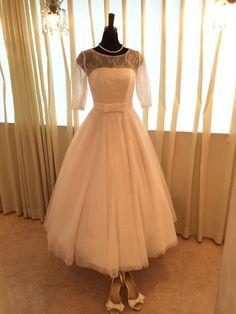 最新ミモレ丈ウェディングドレス♡ の画像|WeddingDressShop Cinderella