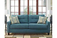 Teal Shayla Queen Sofa Sleeper View 4