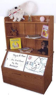 toy box bookshelf combo plans