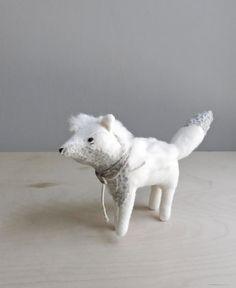fierce fox / soft sculpture animal by ohalbatross on Etsy, $78.00