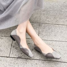 shoes women's pumps Chiko Edlyn Two Tone Flats Shoes Heels Pumps, Toe Shoes, Low Heels, Wedge Shoes, Shoe Boots, Sandal Heels, Women's Flats, Moda Fashion, Fashion Shoes