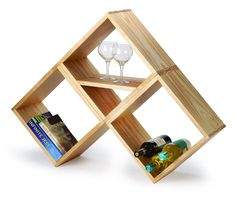 I noticed this project on Popular Woodworking and while it's a very simple woodworking projects, the finished result is great. You can use the modular unit as a wine rack, as a free-standing or wall-mounted bookshelf, for storage or as a display shelf. Woodworking Hand Tools, Beginner Woodworking Projects, Popular Woodworking, Woodworking Plans, Woodworking Magazines, Carpentry Projects, Woodworking Chisels, Workbench Plans, Woodworking Workshop