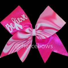 Hey, I found this really awesome Etsy listing at https://www.etsy.com/listing/159635062/breast-cancer-awareness-cheer-bow