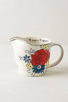 Anthropologie  Flowerpatch Measuring Cup