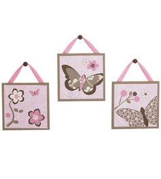 Cocalo™ Canvas Art (3-piece set) in Mia Rose - Decorations - Canada's Baby Store