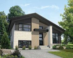 Multi-Level Contemporary House Plan - 80797PM | Contemporary, Canadian, Metric, Narrow Lot, 2nd Floor Master Suite, CAD Available, Den-Office-Library-Study, PDF | Architectural Designs