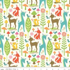 Sheri Berry Designs - Woodland Tails - Deer in Cream