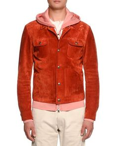 N5193 TOM FORD Cashmere-Trim Suede Western Jacket