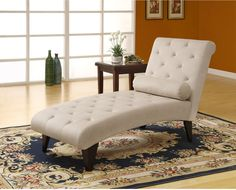Luxury look chaise, Taupe Velvet Fabric Chaise Lounger