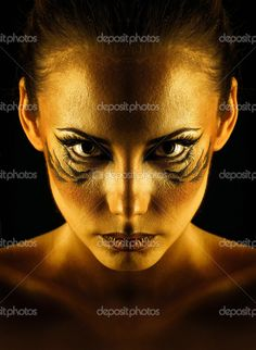 Girl tigress — Stock Image #45036343