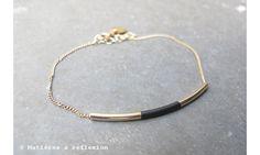 Judith Benita bracelet Tube Noir www.matieresareflexion.kingeshop.com