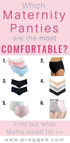 b23a57901 Need Some Comfy panties  Which of these 6 maternity panties have been voted  the most
