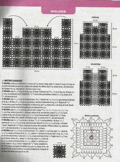 Chaleco Cuadrados de Crochet Patron - Patrones Crochet