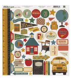 Echo Park Paper Company™ Teacher's Pet Cardstock Stickers-Element