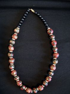 Sculpey clay necklace with glitter
