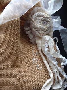 Dollar DANCE BRIDAL BAG with jewel embellished flower on Etsy, $32.00