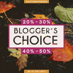 Amostras e Passatempos: Blogger's Choice by Skin #autumntrends