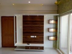 R and s lake view: modern by custom decor,modern wood wood effect Lcd Unit Design, Lcd Wall Design, Tv Unit Interior Design, Tv Unit Furniture Design, Contemporary Interior Design, Tv Furniture, Door Design, Bedroom Furniture, Living Room Partition Design