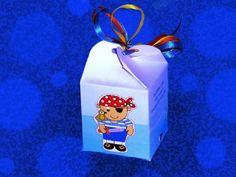 Με τον πειρατή μπομπονιέρα βάπτισης σε χάρτινο κουτί κύβο οικονομική http://www.mpomponieresvaptisis.gr