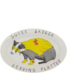 Jimbob Art Super Badger Serving Platter