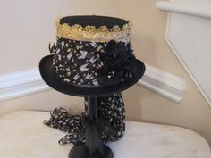 Black Top Hat Stevie Nicks Inspired by MoonbeamEmporium on Etsy