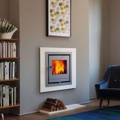 Inset Fireplace, Log Burner Fireplace, Small Fireplace, Modern Fireplace, Living Room With Fireplace, Wood Burner, Fireplace Blower, Fireplace Screens, Fireplace Inserts