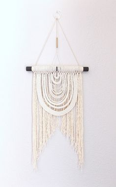"Macrame Wall Hanging ""Energy Flow no.12"" by HIMO ART, One of a kind Handcrafted Macrame, rope art"