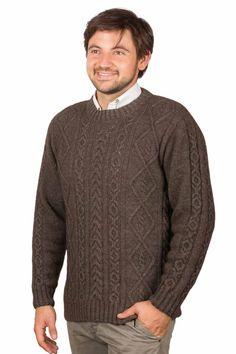 Pull laine homme en yack irlandais