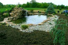 large ponds   Building a Large Pond http://www.jcpryorlandscape.com/ponds_streams ...