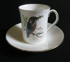 Kingfisher Bird Queen's Rosina Bone China Mug Cup & Saucer Wild Birds of America #QueensRosinaChinaCoLtd #WildBirdsofAmerica