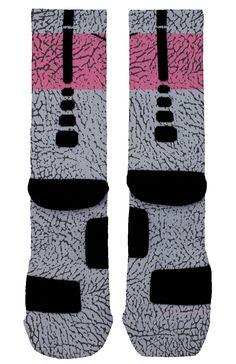 "Hyper Pink ""Elephant Print"" Custom Nike Elites"