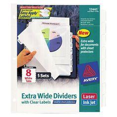 Blueprint binding strips 100pk organization pinterest avery 11 14 x 9 14 index maker extra wide malvernweather Gallery