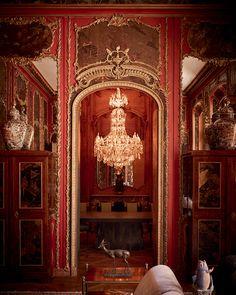 La salle à manger de l'hôtel particulier de l'antiquaire Benjamin Steinitz rue Royale © Paul Lepreux (AD n°125 août-septembre 2014)