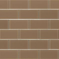 Urban Hues Mocha featured on the Glass Subway Tile page from South Cypress.