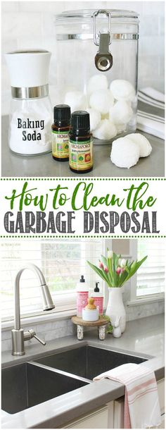 Great ideas for how to clean and maintain your garbage disposal and clear out those odors! Cleaning Walls, House Cleaning Tips, Green Cleaning Recipes, Housekeeping Tips, Kitchen Organization, Household Organization, Organizing Ideas, Declutter Your Home, Homekeeping