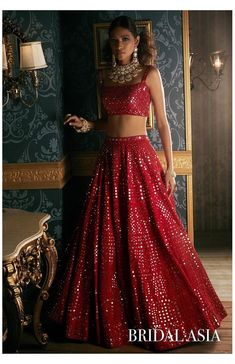 Indian Gowns Dresses, Indian Fashion Dresses, Dress Indian Style, Indian Designer Outfits, Salwar Designs, Lehenga Designs, Indian Bridal Outfits, Indian Bridal Fashion, Mirror Work Lehenga