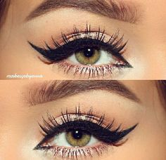 Loving this absolutely perfect cat eye by @makeupbyevva #Makeup