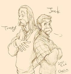 Disney's animal characters reimagined as humans - Trusty and Jock
