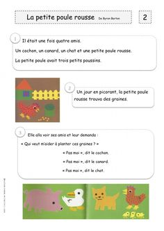 "Tapuscrit ""la petite poule rousse"" Petite Section, Grande Section, Album Jeunesse, French Immersion, French Lessons, Book Activities, Literacy, Teaching, Kids"