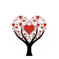 #5437 Valentine Heart Tree Snap 20mm for Snap Jewelry