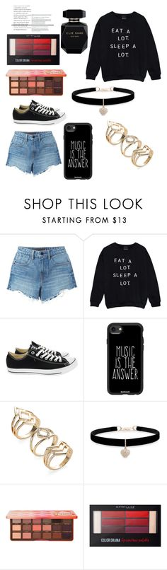 """""""lazy girl"""" by bunny05 on Polyvore featuring beauty, Alexander Wang, Converse, Casetify, Betsey Johnson, Too Faced Cosmetics, Maybelline and Elie Saab"""