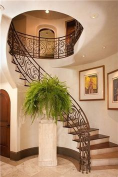 Mediterranean Staircase Design, Pictures, Remodel, Decor and Ideas - page 29